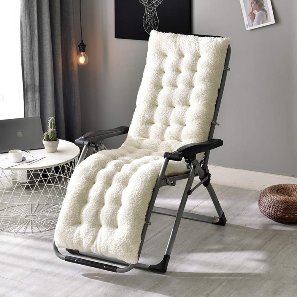 ZGYQGOO Lounge Chair Kissen, Terrasse Chaise Lounge Kissen, einfarbig Matratze für Garten Outdoor Indoor Sonnenliege Kissen Stuhl Kissen für Gartenmöbel (nur Kissen) -e 130x50x12cm (51x20x5inch)
