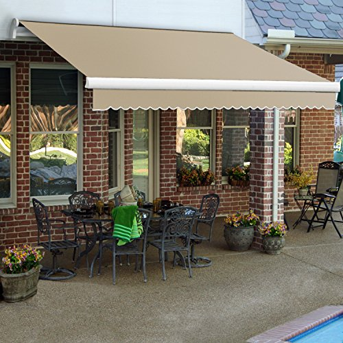 Awntech MTL18-2-L 18' LX-Maui Left Motor Retractable Acrylic Awning with Remote, 120
