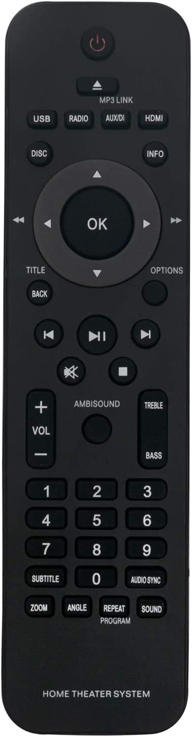 New 996510026446 Remote Control for Philips Home Theater System HTS6120/37 HTS6120