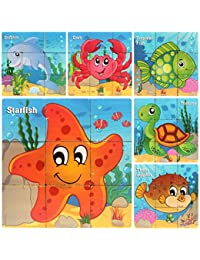 Wooden Blocks for 2 to 4 Years Old Toddlers Kids ... (Sea Animals) BOBEBE Online Baby Store From New York to Miami and Los Angeles