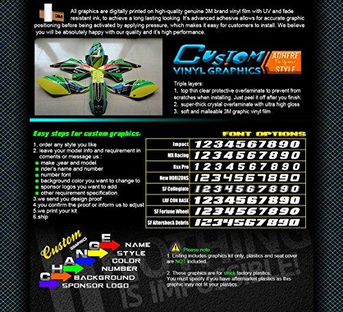 Kungfu Graphics Rockstar Custom Decal Kit for Yamaha YZ125 YZ250 1996 1997 1998 1999 2000 2001, Black White by Kungfu Graphics (Image #1)'