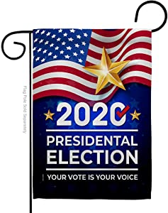 """Biden Harris Flag 2020 Election Garden Flag PatrioticDemocrat Republican Tea Party United State American House Decoration Banner Small Yard Gift Double-Sided, 13""""x 18.5"""", Thick Fabric"""