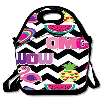 298cd19e84ea Amazon.com: Customize Insulated Lunch Bag Tote Reusable Waterproof ...