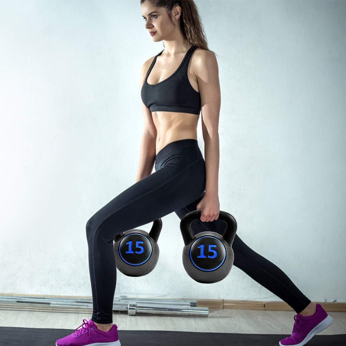 MD Group 3 pcs 5 10 15lbs Kettlebell Kettle Bell Weight Set by MD Group (Image #7)
