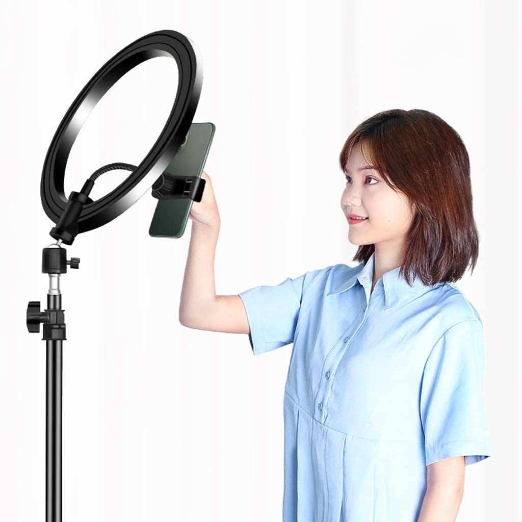 Accessory Kits LED Ring Light Mobile Live Tripod Multi-Function self-Timer Tripod Light Photography Bracket Color : Black, Size : 72cm