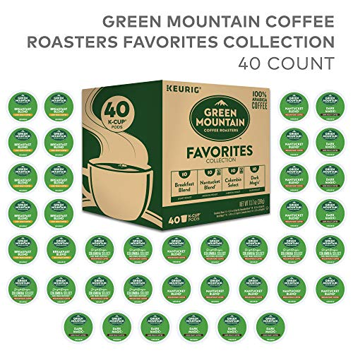 Green Mountain Coffee Roaster Coffee Roasters Favorites Collection, Single Serve Coffee K-Cup Pod, Variety, 40 (Green Mountain Nantucket Blend K Cups Best Price)
