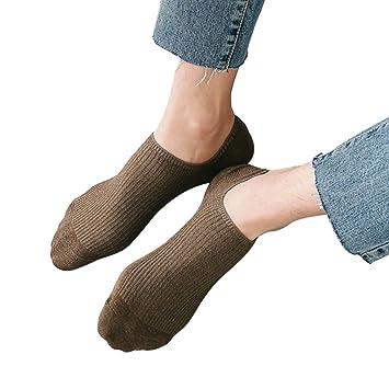 Fascigirl Calcetines Invisibles, Calcetines para Hombre Calcetines Antideslizantes para La Moda con Agarre en El TalóN: Amazon.es: Deportes y aire libre