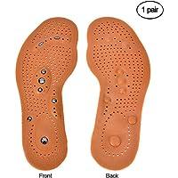 Aolvo Plantillas de Acupresión, 2 paquetes de plantillas de masaje para la salud, terapia magnética, inserciones de zapatos, almohadillas para orejas de gel suave, relajar los músculos, promover la circulación sanguínea, aliviar el dolor para hombres y mujeres, tamaño de tabla de cortar (grande)