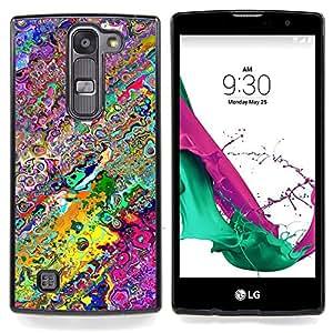 Eason Shop / Premium SLIM PC / Aliminium Casa Carcasa Funda Case Bandera Cover - Fondo de pantalla de neón colores aleatorios Arte Moderno - For LG G4c Curve H522Y ( G4 MINI , NOT FOR LG G4 )
