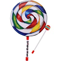 Perfeclan Baby Kids Colorful Lollypop Hand Drum - 10 inch