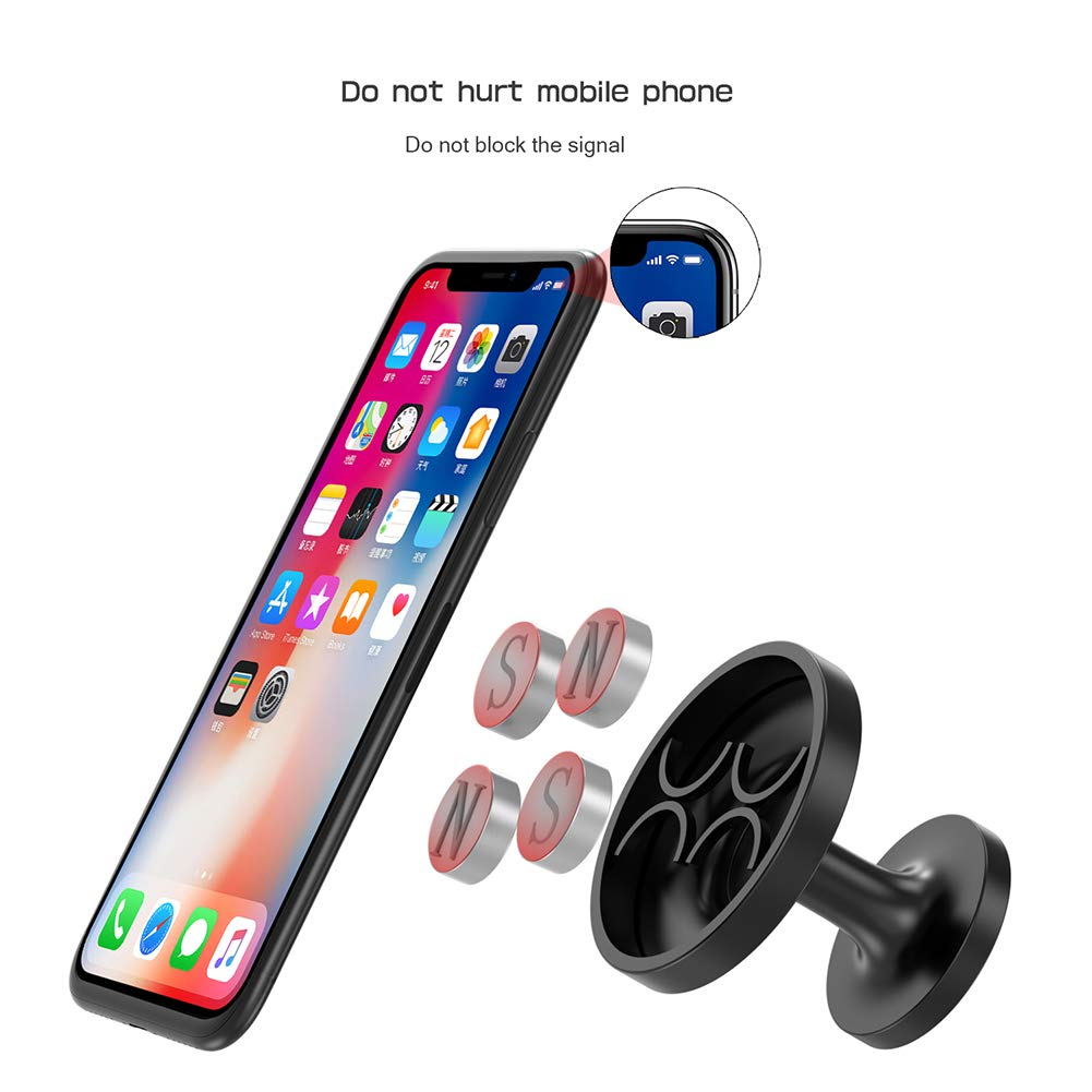 360/°Adjustable Dashboard Universal Magnet Dashboard Adhesive Car Mount Cell Phone Holder iPhone XR iPhone Xs Max iPhone 7//8 Samsung S9//S9 Plus//S8//S7 LG GPS Magnetic Car Phone Mount