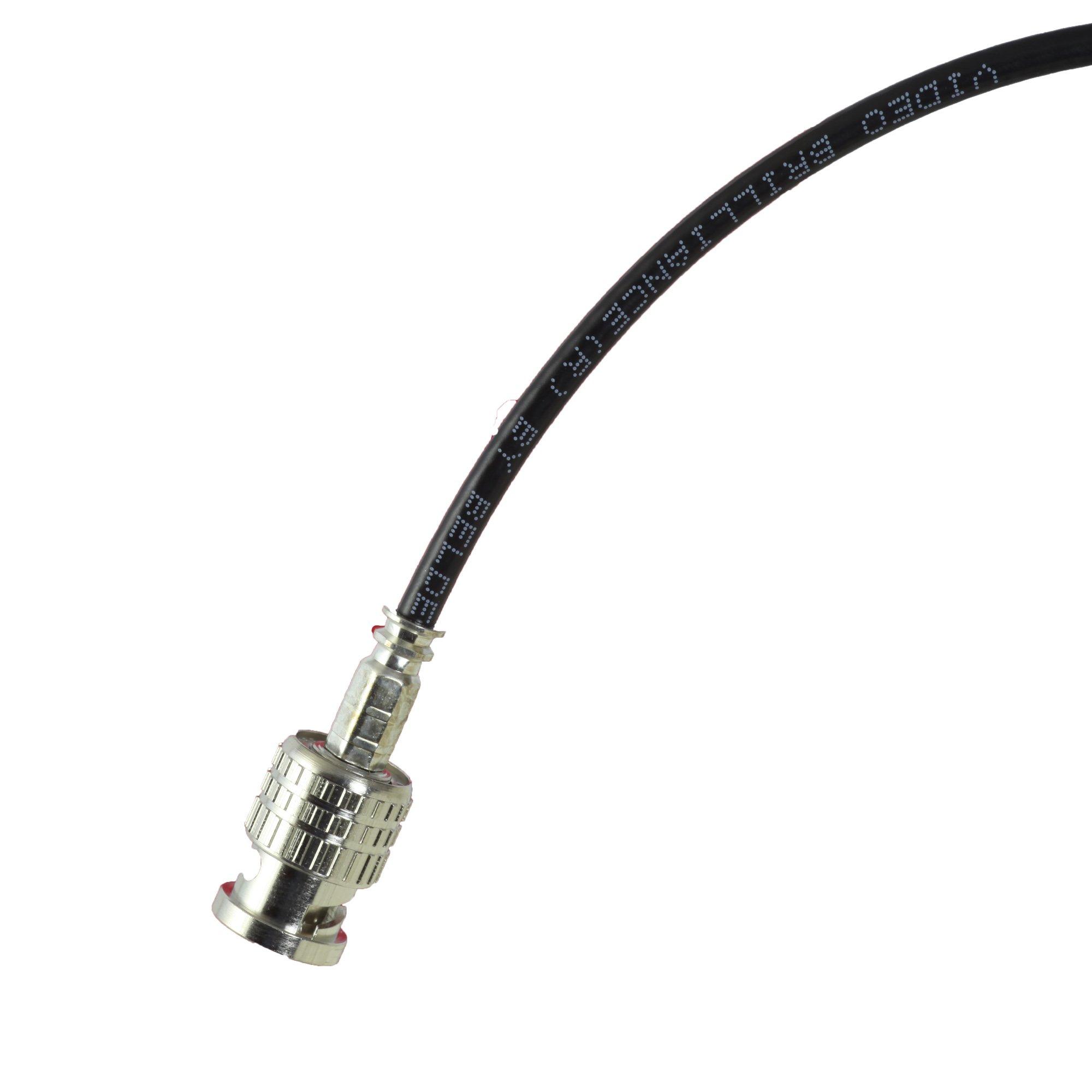 15 foot Black BJC Mini 3G/6G HD SDI cable (Belden 1855A), BNC to BNC