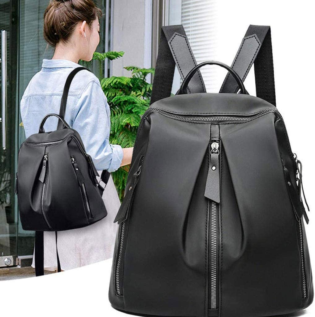 GFDFD Ladies Fashion Backpack Purse Soft Leather Handbag Casual Backpack Women Backpack Teen School Bag (Color : Black) Black