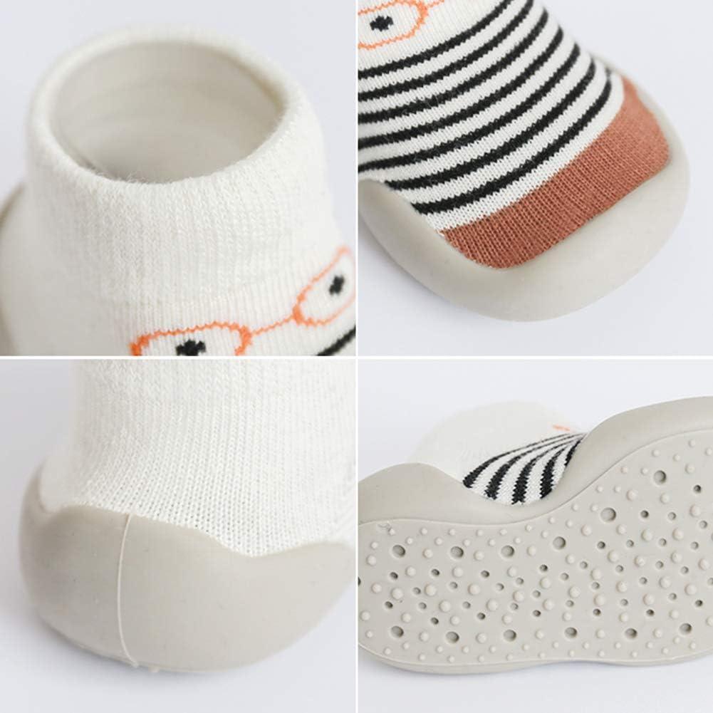 Unisex Babysocken Schuhe Anti Slip Fu/ßboden-Socken mit weichem Gummi Bottom Infant Newborn Gestreifte Glas-Muster Cotton Socke Stiefeln f/ür Indoor Outdoor XL