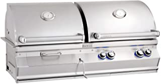 product image for Fire Magic Aurora Series 46-Inch Built-In Gas and Charcoal Combination Grill (A830i-5EAN-CB), Natural Gas
