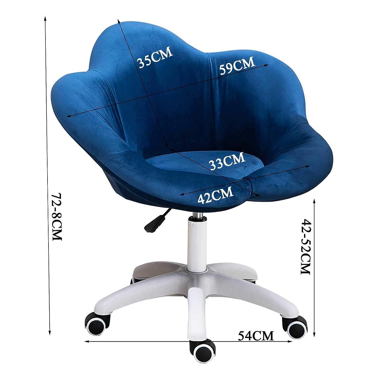 GAOPANG kontorsstol ergonomisk skrivbordsstol justerbar rullande 360° vridbar datorstol med hydraulisk hiss, rosa BLÅ