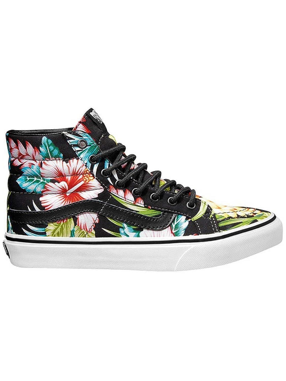 0baf9d9ec47 on sale Vans SK8-Hi Slim Skate Shoe - Womens (Hawaiian Floral) Black ...
