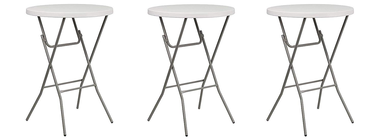 - Amazon.com: Flash Furniture 32'' Round Granite White Plastic Bar
