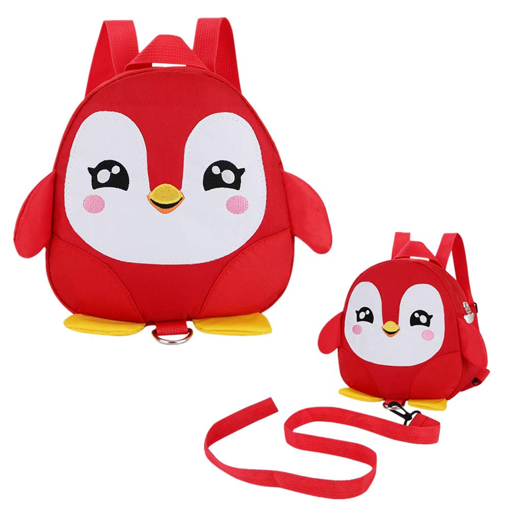 Toddler Walking Safety Backpacks with Wrist Link Kid Owl Anti Lost Bags for 1.5 to 3 Years Old Boys Girls Owl Green
