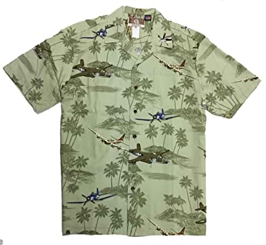be4f584b Kalaheo Men's World War II Bomber Aloha Shirt at Amazon Men's ...