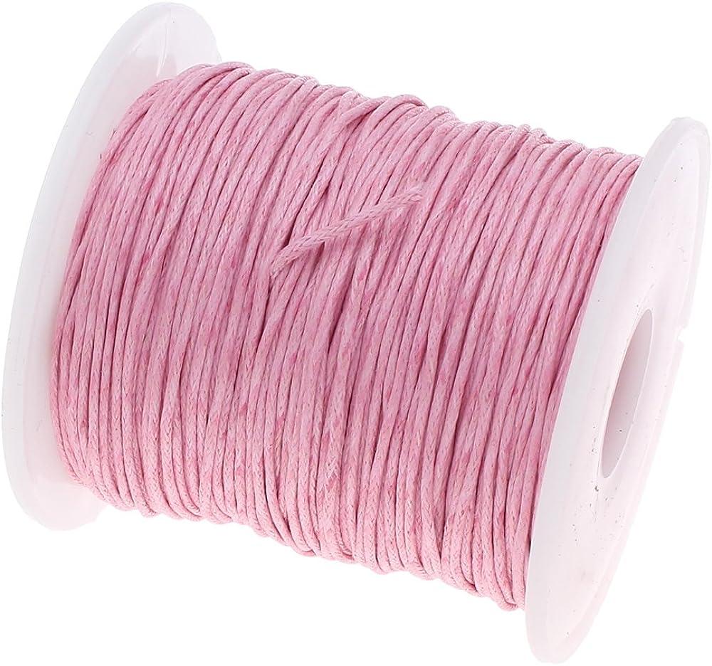 75 m cordón de algodón encerado joyas 1 mm Rosa Cera hilos ...
