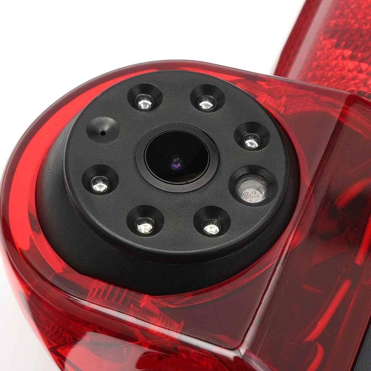 HD 720p Vision Nocturne Imperm/éable 170/° Cam/éras de recul Troisi/ème feu Stop en Remplacement de la Lampe darr/êt pour Fiat Ducato Citroen Relay Citroen Jumper Peugeot Boxer 06-19