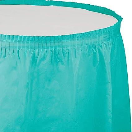 Creative Convertting Falda plástico 74 x 420 cm Verde acqua-Teal ...