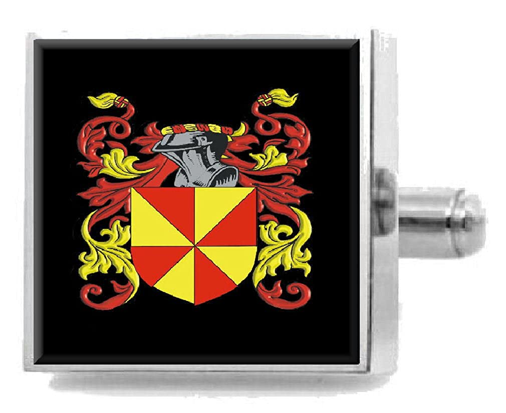 Select Gifts Garmon England Heraldry Crest Sterling Silver Cufflinks Engraved Message Box
