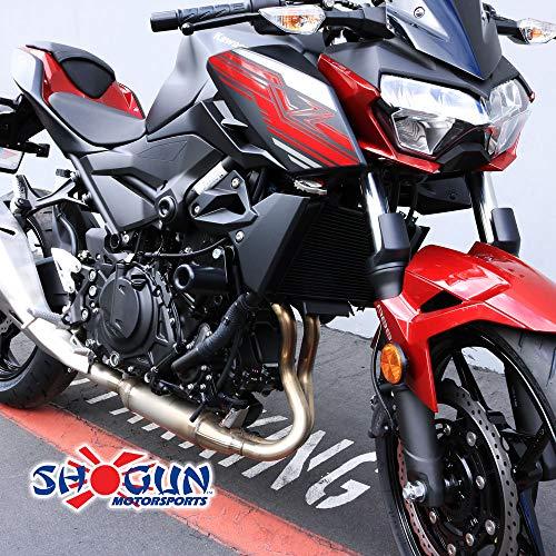 Shogun Kawasaki Ninja 400 2018 2019 Z400 NO CUT Black Complete Slider Kit Includes Made in the USA No Cut Frame Sliders Swing Arm Spools and Bar Ends