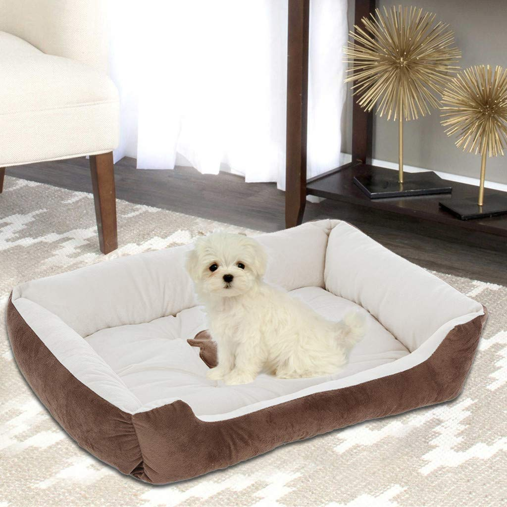 Lataw Pet Sofa Bed Deluxe Orthopedic Mat Traditional Step-On Comfortable Couch Mattress Pet Puppy Bed for Dogs & Cats with Removable Washable Cover US Stock by Lataw