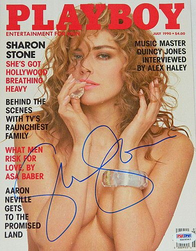 Sharon Stone Signed Playboy Magazine July 1990 Issue -PSA/DNA Authentic Autograph