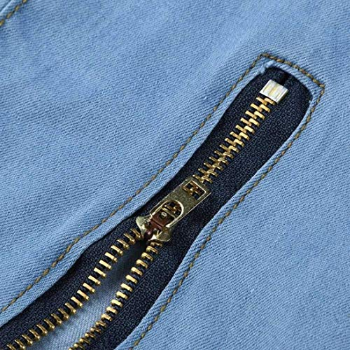 Hombres Ropa Jeans Biker Zipper Distressed Tamaños Pants Cómodos Frayed Hombres Blau Pants HX fashion De Pantalones Biker Rip Slim para Denim Hombre Slim Closure Skinny q0RgaXw