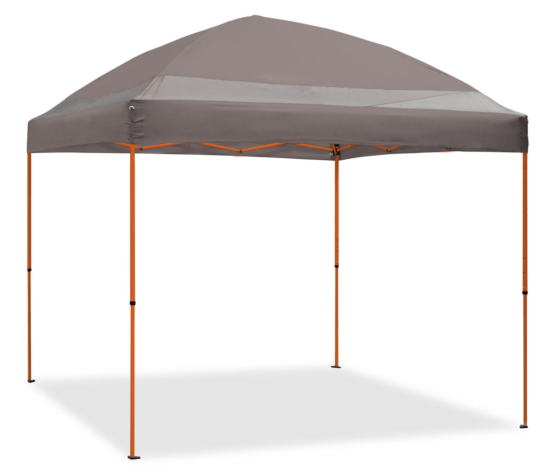 Caravan Canopy 10\' x 10\' ArchBreeze Instant Canopy, Grey Top/Orange ...