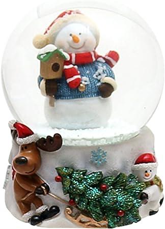 Hermosa bola de nieve con, tamaño aprox., Muñeco de nieve con casita, Ø 6,5 cm: Amazon.es: Hogar
