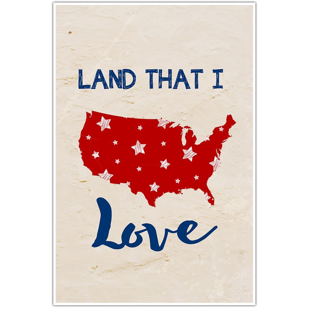 Land That I Love Patriotic Wall Art