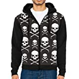 UYILP Men's Crossbones Skull Fashion Casual