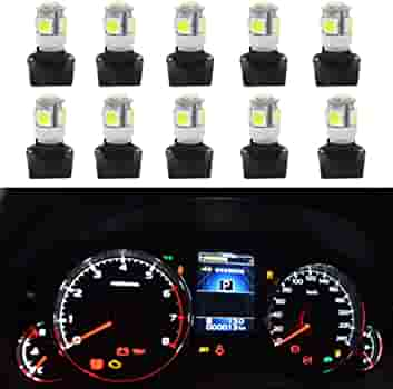 WHITE 4-Point 194 Style LED Replacement Instrument Cluster Gauge Bulb