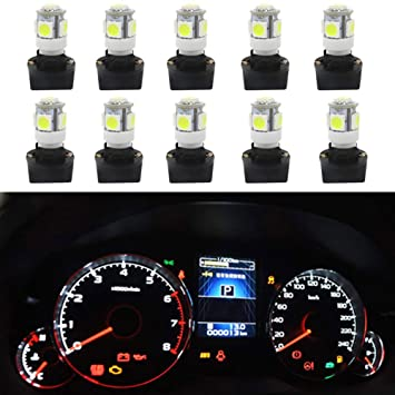 WLJH 10pcs T10 168 194 Twist Lock Socket for w5w 2825 Wedge Instrument Panel Cluster Gauge Dashboard Light Lamps 1//2 Hole Miniature Wedge Base Bulbs