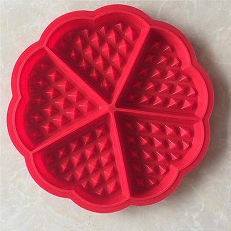 Molde de gofres de silicona Horno de microondas Pastel de ...