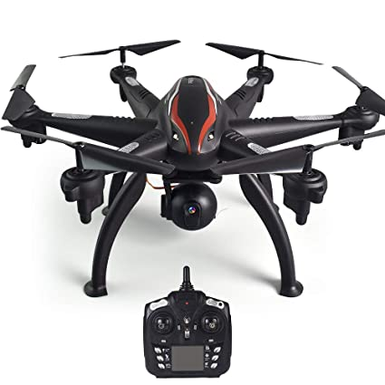 Goolsky L100 Drone 2 4G 720P Wide-Angle WiFi FPV Camera 6-axis GPS Drone  Auto Follow RC Hexacopter Drone for Adults Kids