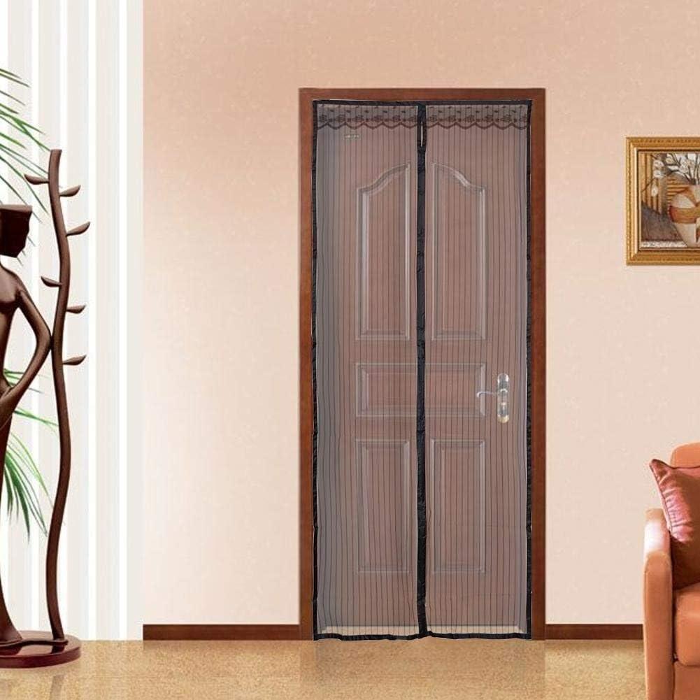 Mosquitera magnética para puerta, cortina de malla con marco completo de velcro, se adapta a puertas de hasta 80 x 210 cm: Amazon.es: Bricolaje y herramientas