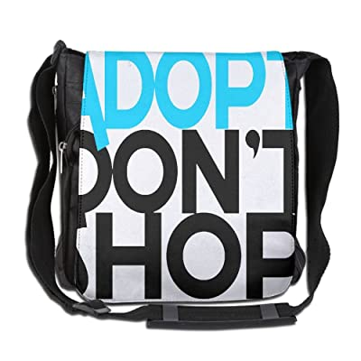 Adopt Don't Shop Fashion Print Diagonal Single Shoulder Bag