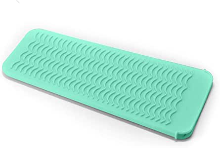ZAXOP Resistant Silicone Mat Pouch for Flat Iron, Curling Iron,Hot Hair Tools (Mint Green)