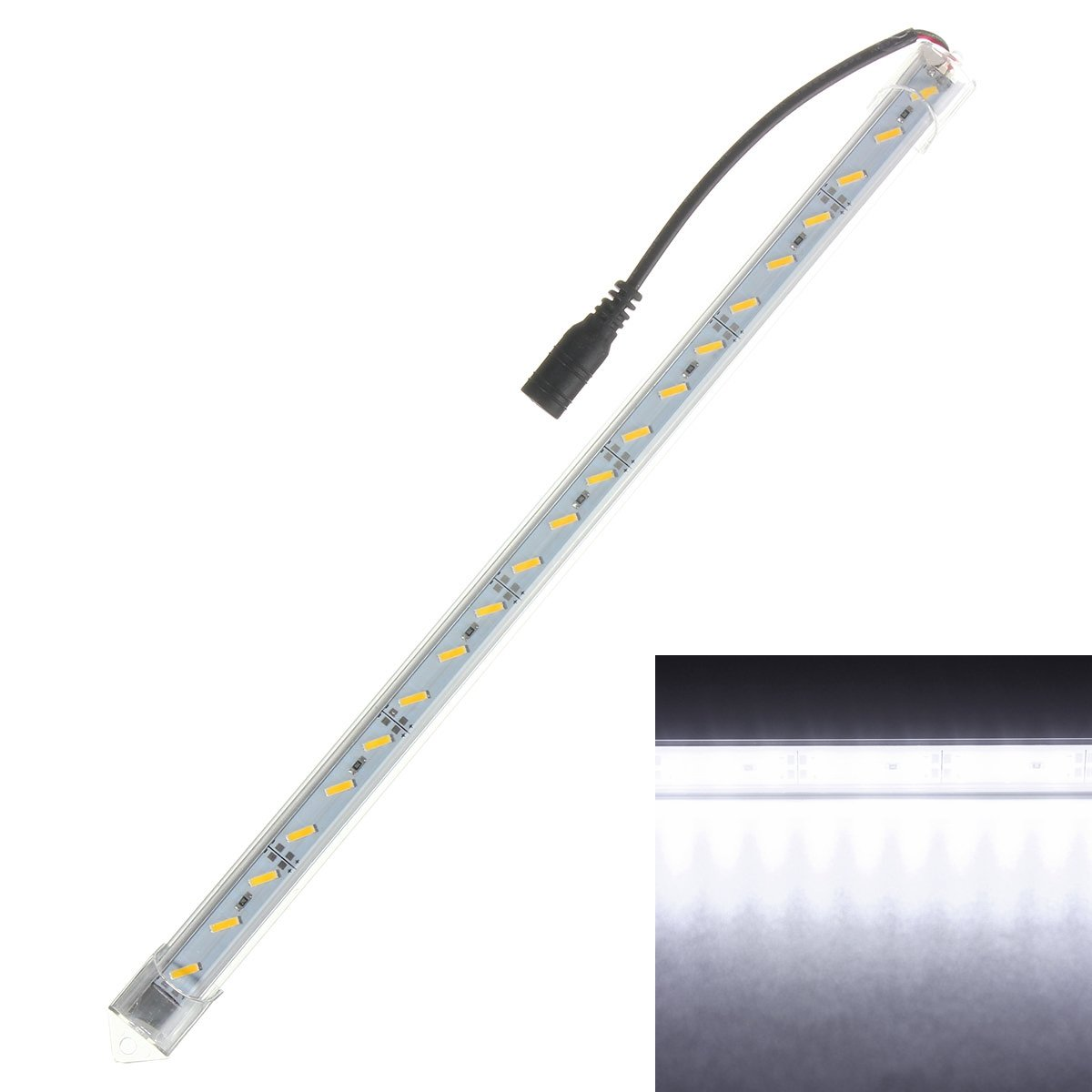 Uncase Clean Led Aluminum Strip Light Led Rigid Strip - 4 30cm Dc12v 7020 21smd Led Aluminum Alloy Shell Cabinet Strip Light - Pillage Bioluminescent Plunder Unclouded Ignitor - 1PCs