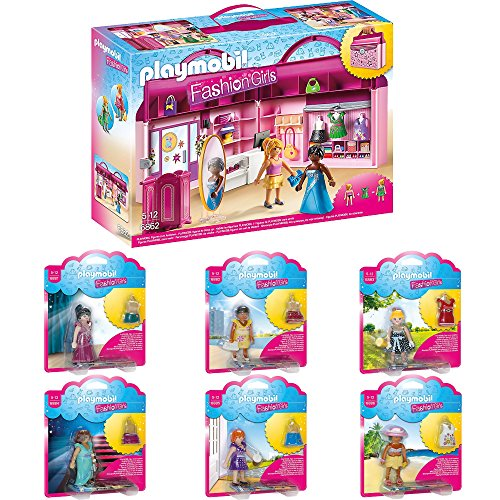 Amazon.de:PLAYMOBIL® Fashion Girls 7er Set 6862 6881 6882 6883 ...