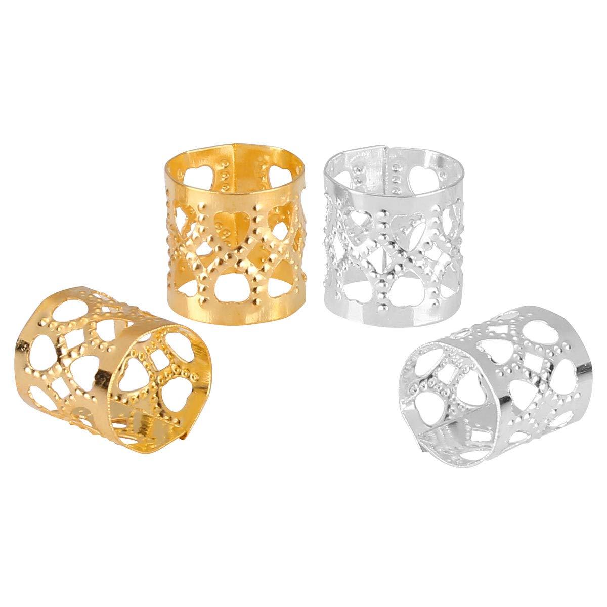 20pcs-50pcs Acrylic different 5 styles hair braid dread dreadlock beads clips cuffs tube rings Jewelry dreadlock accessories