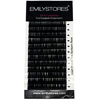 c79a203862d EMILYSTORES Eyebrow Eyelash Extensions Under Lower False Lashes Mixed J Curl  0.10mm Length 5mm 6mm