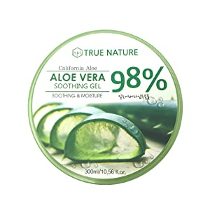 KPI Healthcare True Nature Soothing and Moisture Aloe Vera 98% Gel (Color: Clear, Tamaño: 300ml (10.58oz))