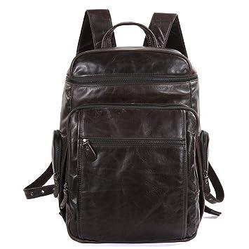 Circlefly Mochila coreana cuero mochila mens equipaje bolso morral cuero hombre: Amazon.es: Hogar