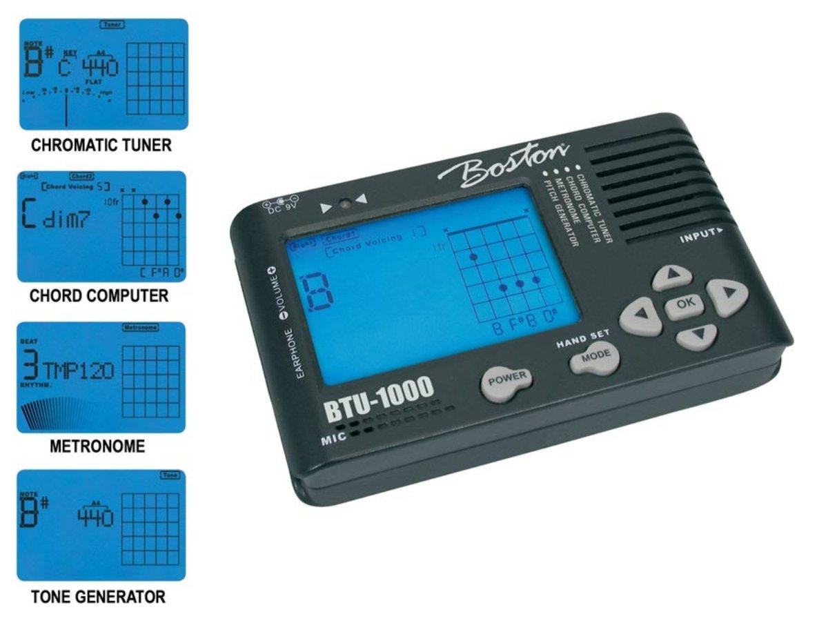Boston BTU-1000 - Strumento multifunzione (accordatore cromatico / metronomo / generatore di toni)